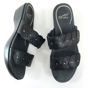 Dansko Strappy Leather Slides Slip-Ons 38 (7.5/8)